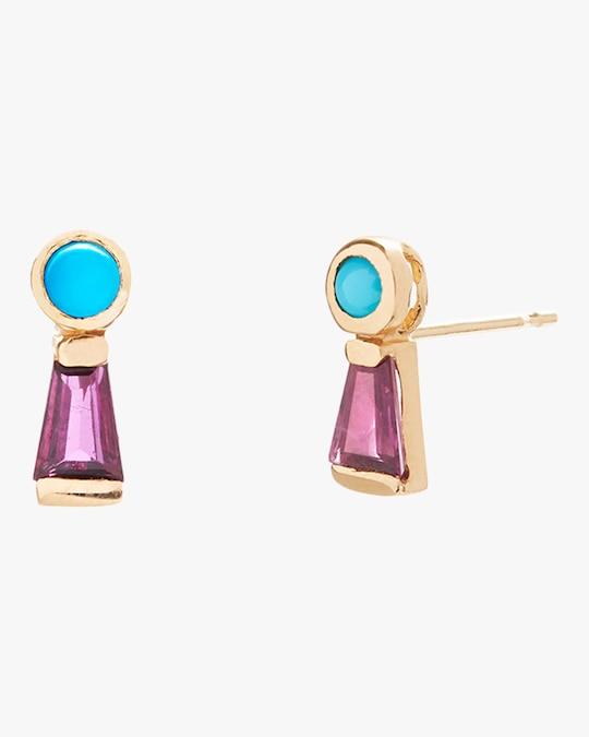 SCOSHA Keyhole Stud Earrings 0