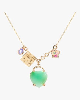 Lucky Heart Charms Necklace