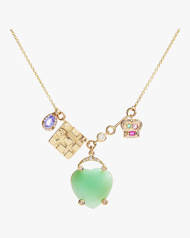 SCOSHA Lucky Heart Charms Necklace 2