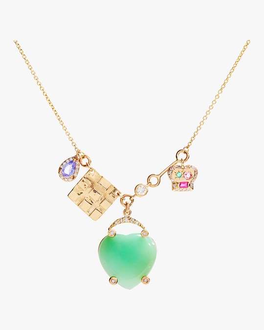 SCOSHA Lucky Heart Charms Necklace 1