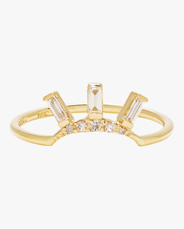 SCOSHA Tiny Diamond Crown Ring 1