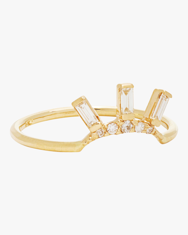 SCOSHA Tiny Diamond Crown Ring 2