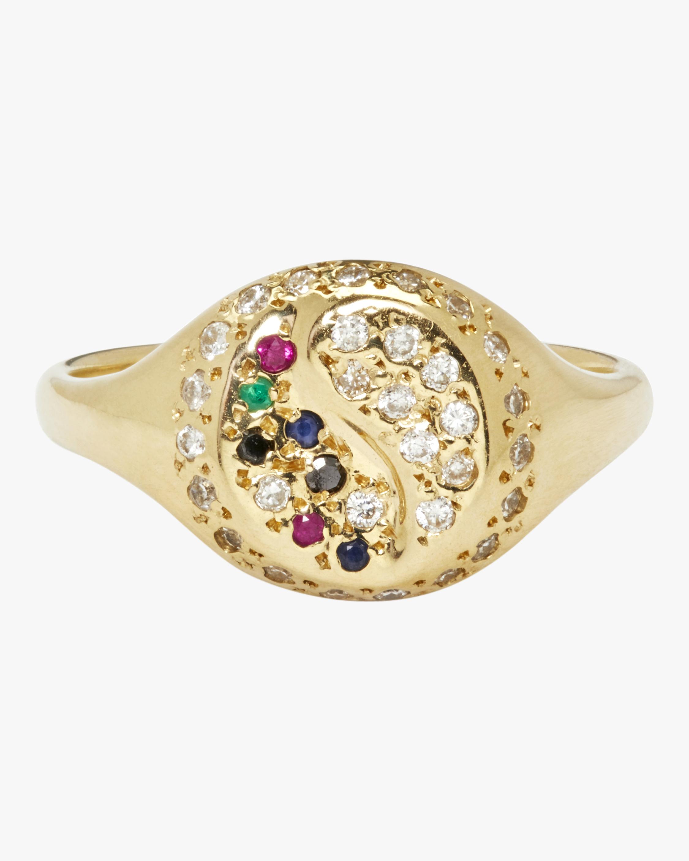 Yin Yang Pavé Signet Ring