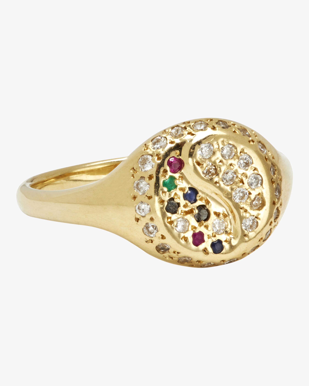 SCOSHA Yin Yang Pavé Signet Ring 1