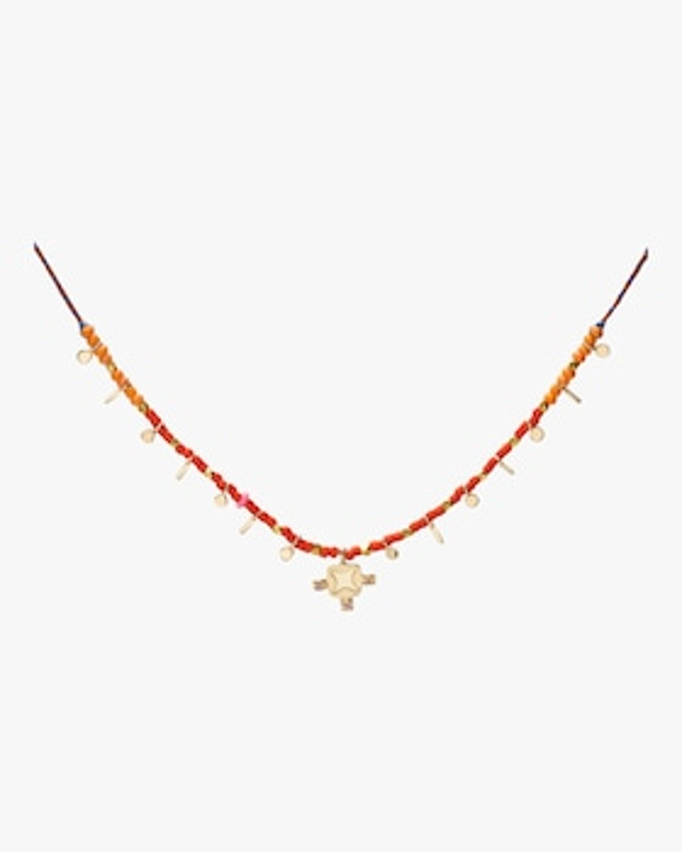 Lotus Flag Confetti Necklace