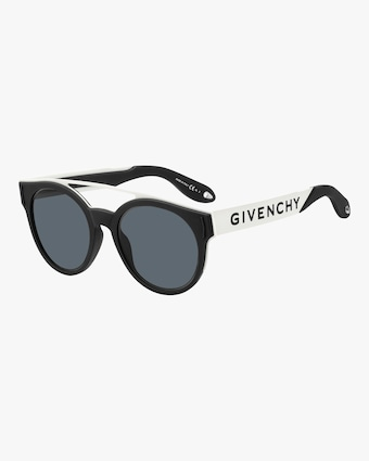 Givenchy Stainless Steel & Rubber Round Logo Sunglasses 2
