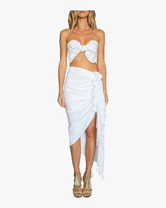 Tulum White Cover Up Skirt
