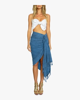 Tulum Stonewashed Solid Cover Up Skirt