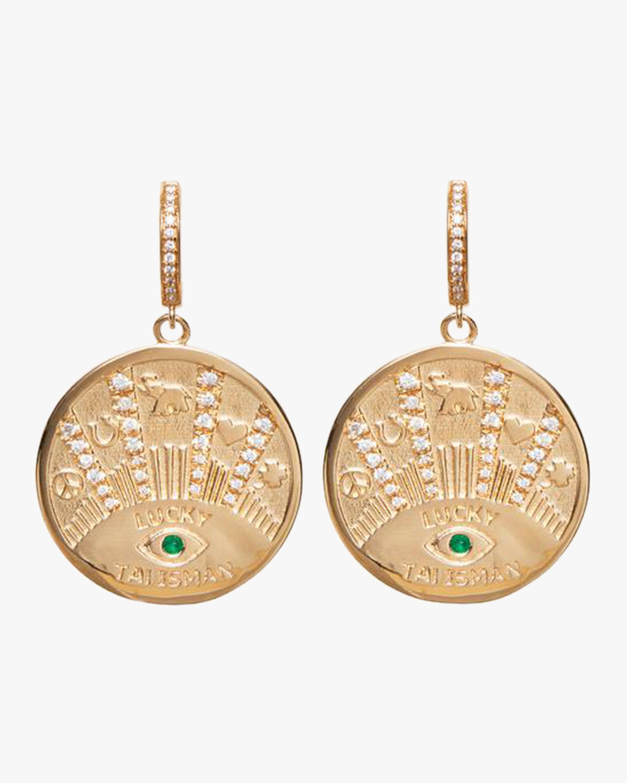 Marlo Laz Talisman Coin Earrings 0