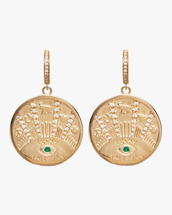 Marlo Laz Talisman Coin Earrings 2