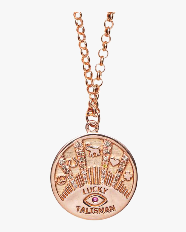Marlo Laz Talisman Coin Necklace 0