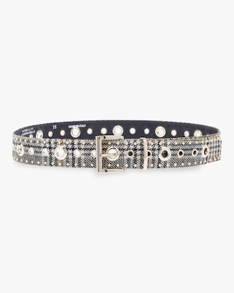 Check It Out Studded Wide Belt