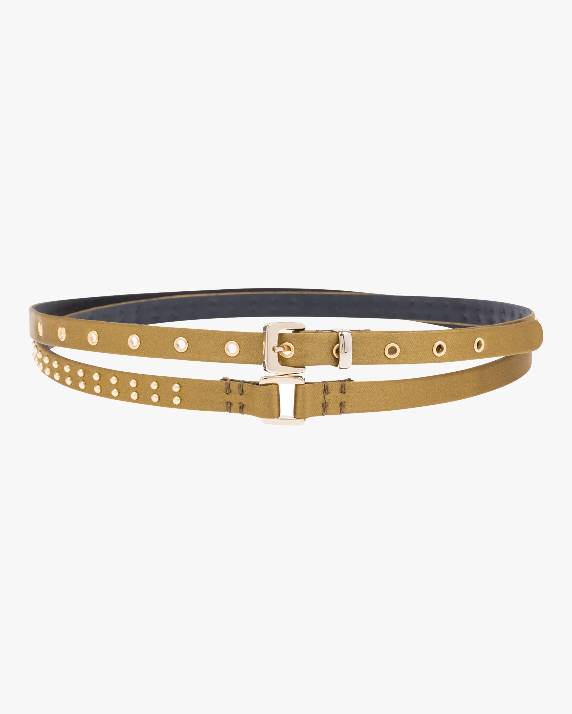 Sumptuous Satin Double Wrap Skinny Belt