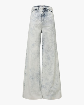 New Denim High Waist Wide Leg Pants