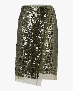 Seductive Layer Sequin Pencil Skirt