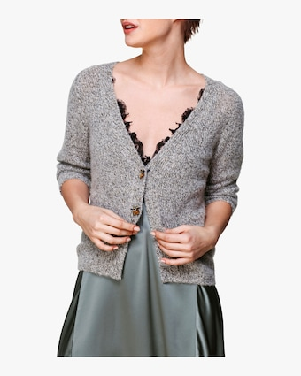 Soft Reduction V-Neck Cardigan
