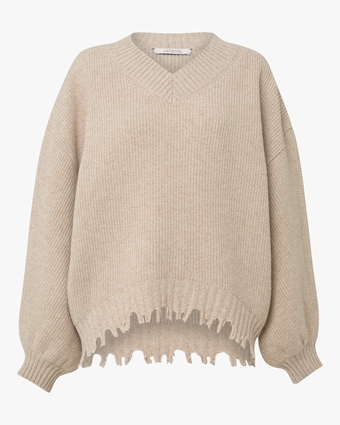 Fringe Vitality V-Neck Sweater