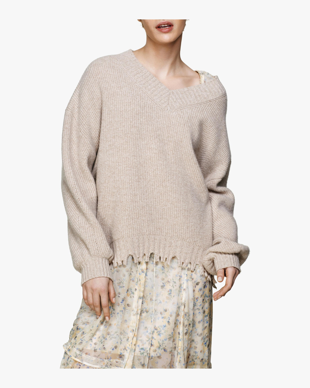 Fringe Vitality V-Neck Sweater