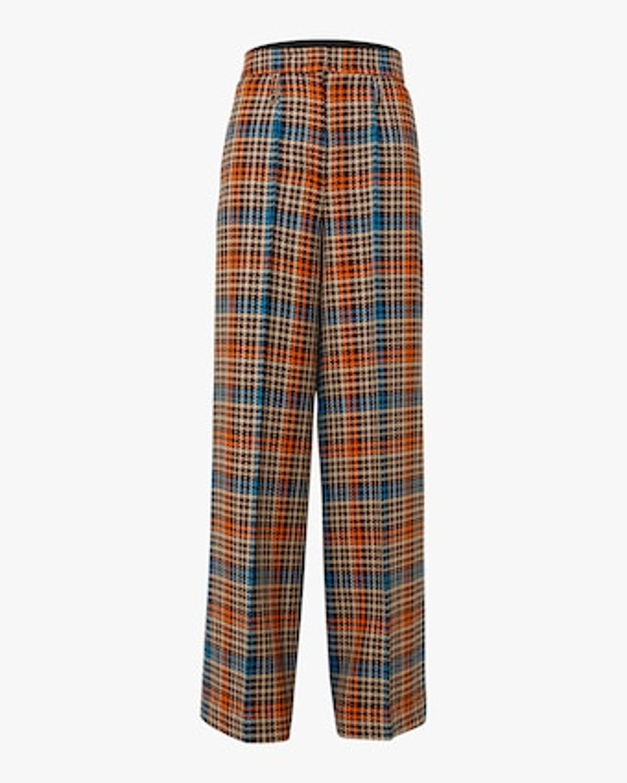 Charismatic Check Wide Leg Pants