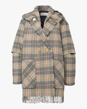 Fringy Check Jacket
