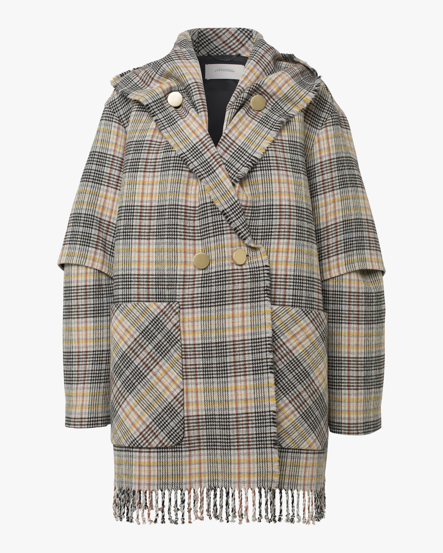 Fringy Check Jacket