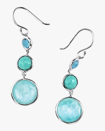 Lollipop Lollitini Waterfall 3-Stone Drop Earrings