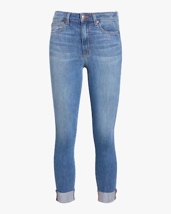 The Charlie Crop Raw Cuff Jeans