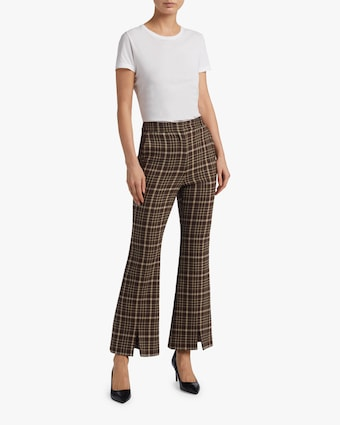 Double Face Wool Bell Crop Pant