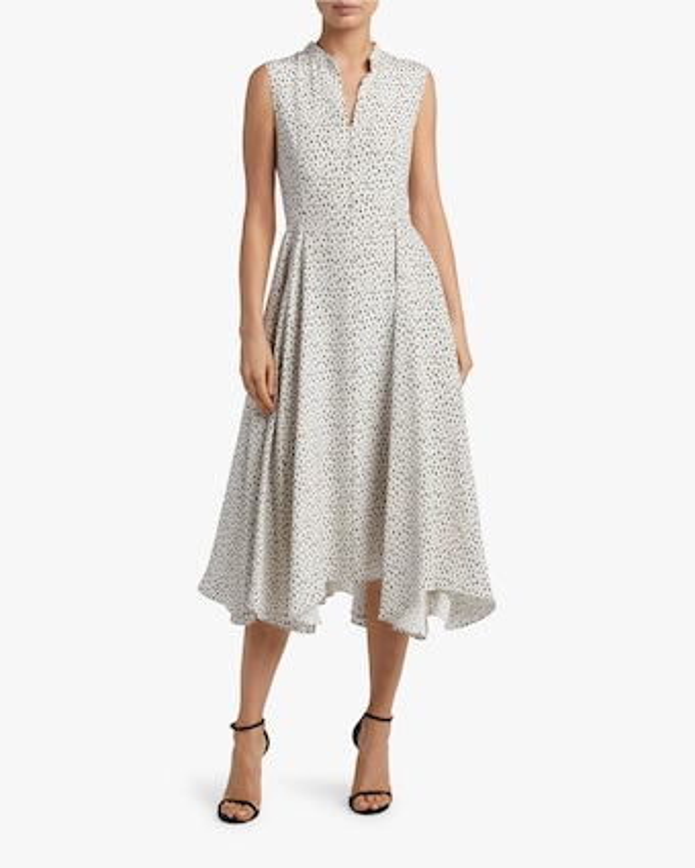 Printed Crepe Sleeveless Dress