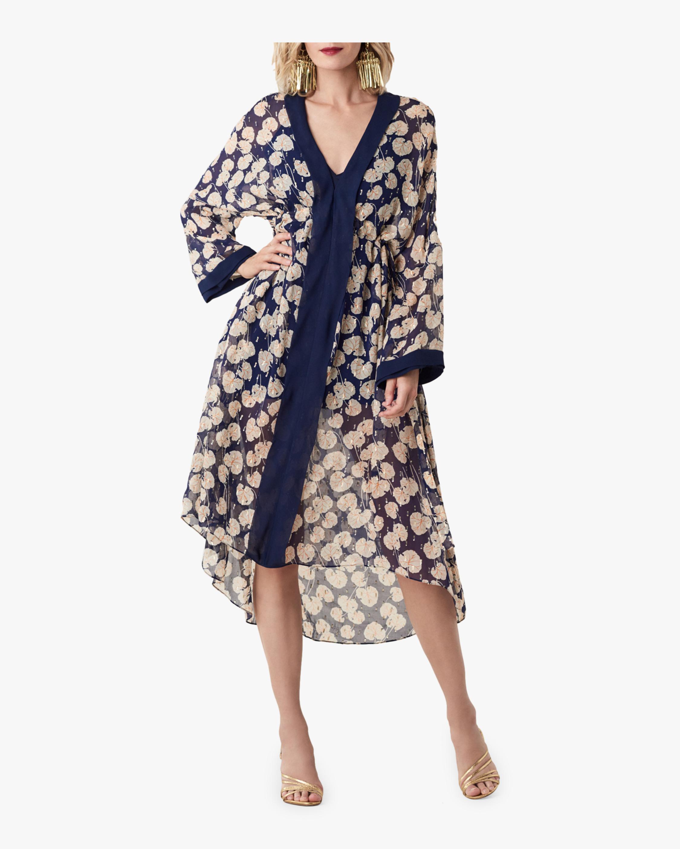 Terry Floral Kimono Dress