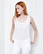 Fite Luxury Tees Linen Scoop Neck Tank 0