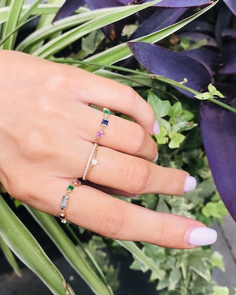 Yi Collection Rainbow Chain Ring 2