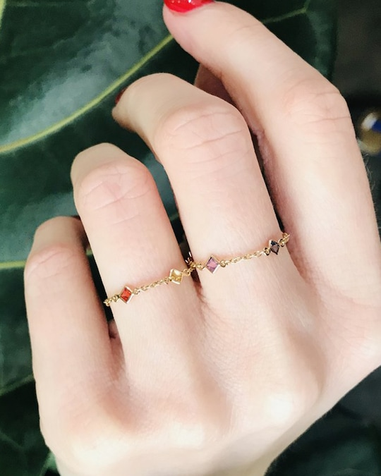 Yi Collection Sapphire Rainbow Chain Ring 1