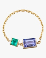 Yi Collection Tanzanite And Emerald Chain Ring 0