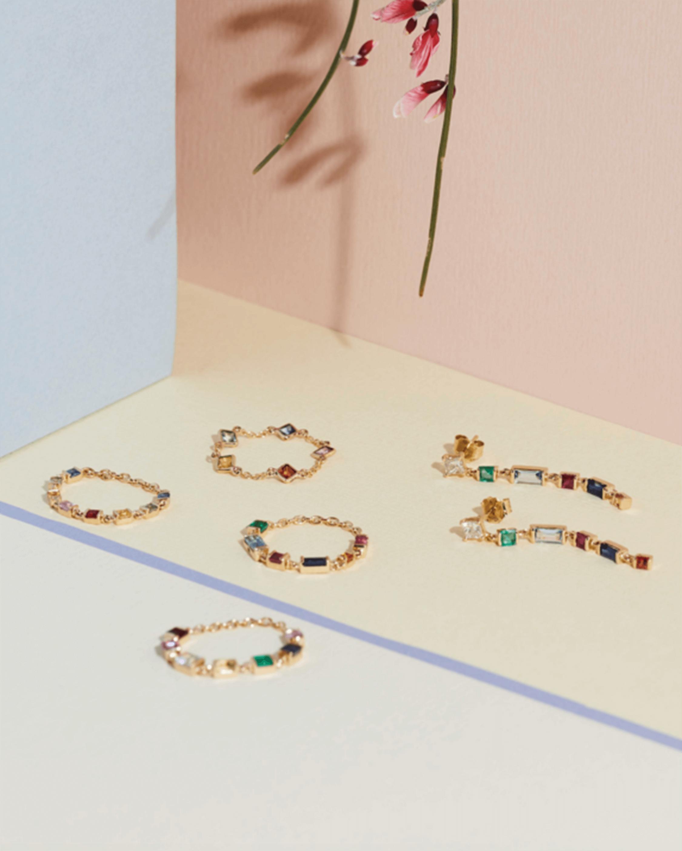 Yi Collection Diamond And Rainbow Earrings 2
