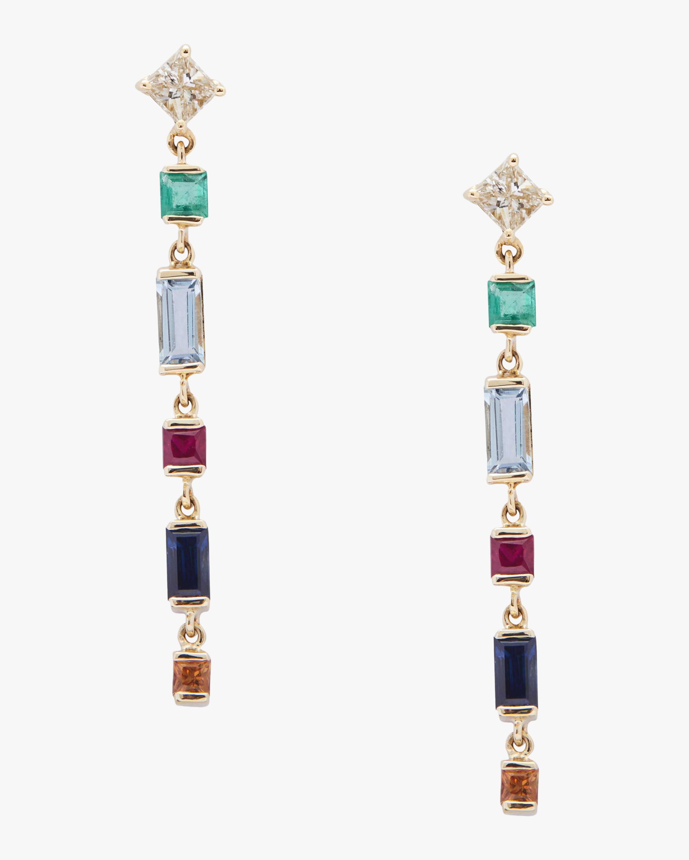 Yi Collection Diamond And Rainbow Earrings 1
