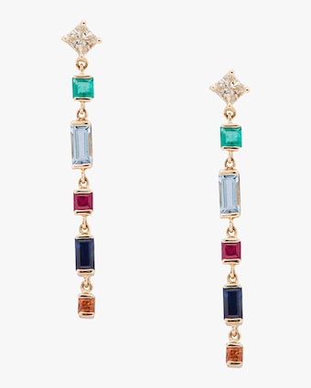 Diamond And Rainbow Earrings