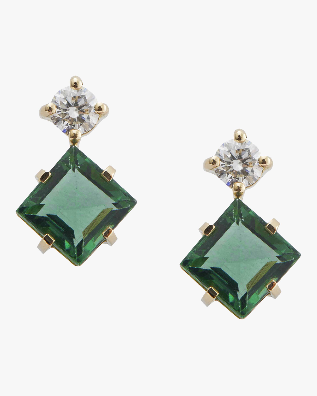 Yi Collection Green Tourmaline And Diamond Earrings 0