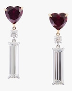 Yi Collection Rhodolite, Diamond And Topaz Earrings 0