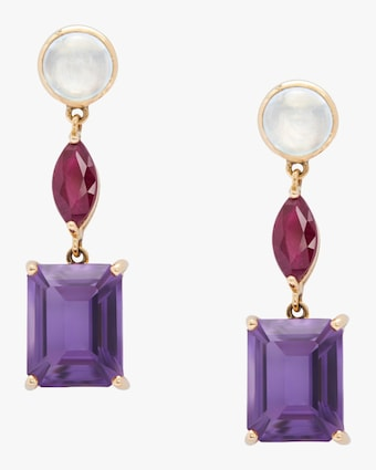 Yi Collection Topaz Ruby Amethyst Beijing Nights Earrings 1