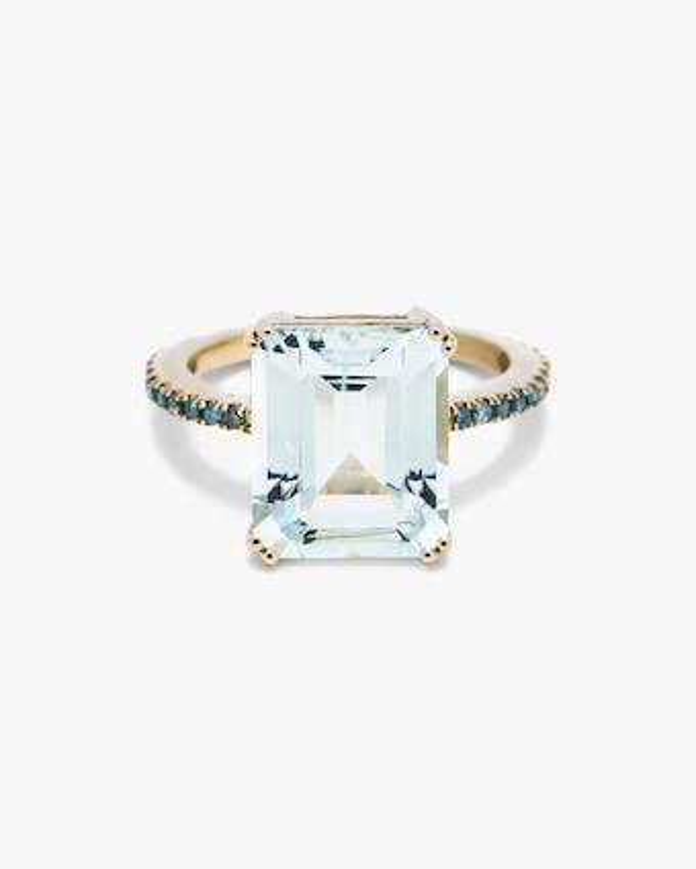 Yi Collection Aquamarine And Blue Diamond Ring 1