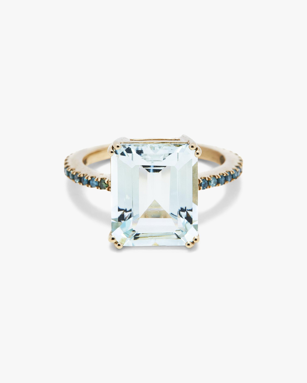 Yi Collection Aquamarine And Blue Diamond Ring 0