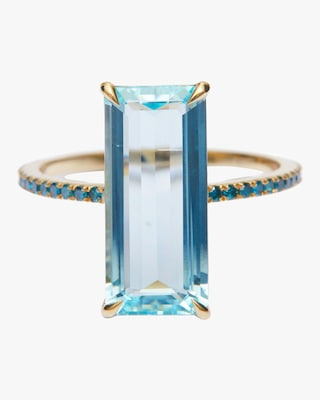 Yi Collection Aquamarine And Blue Diamond Oceans Ring 1