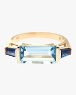 Yi Collection Aquamarine And Sapphire East West Ring 0