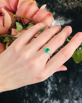 Yi Collection Emerald And Diamond Ring 2