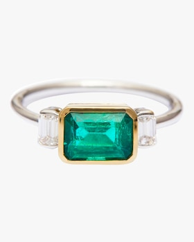 Emerald And Diamond Forever Ring