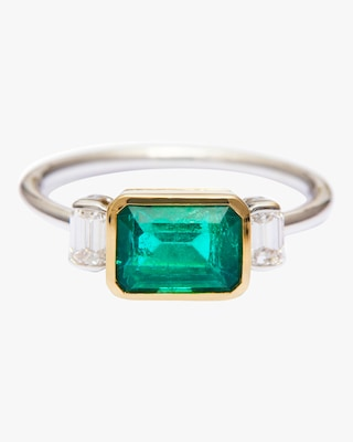 Yi Collection Emerald And Diamond Forever Ring 1