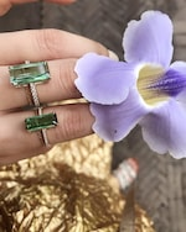 Yi Collection Green Tourmaline And Diamond Ring 1