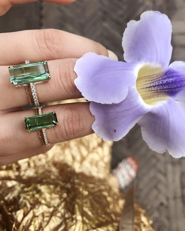 Yi Collection Green Tourmaline And Diamond Ring 2