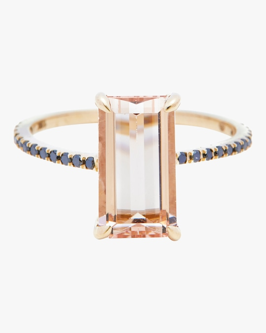 Yi Collection Morganite And Black Diamond Ring 0